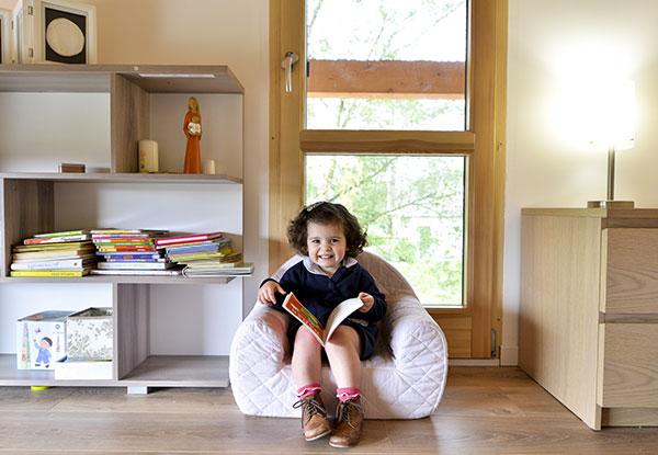 intérieure d'une maison en bois