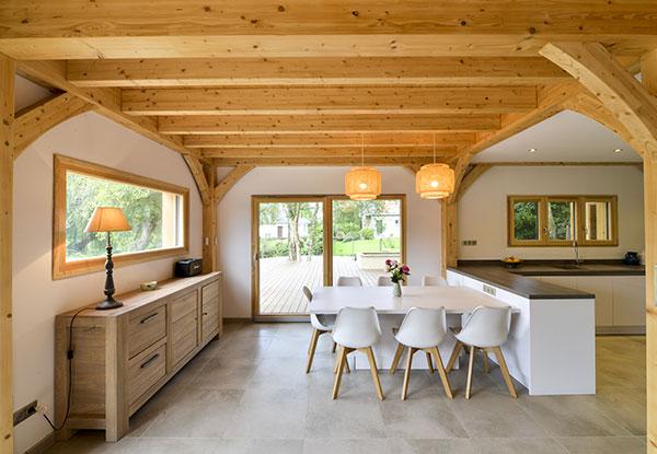 maison bois, exemple de construction durable